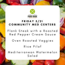 Friday 5/21 - Community Med - Flank Steak