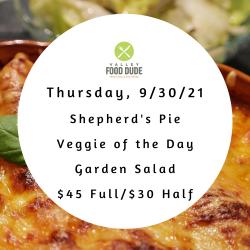 Thursday 9/30 - Shepherd's Pie - $45/$30